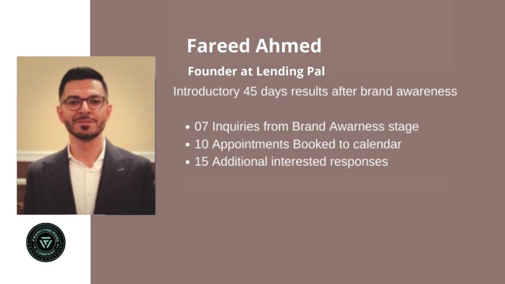 Fareed Ahmed - franchiseware
